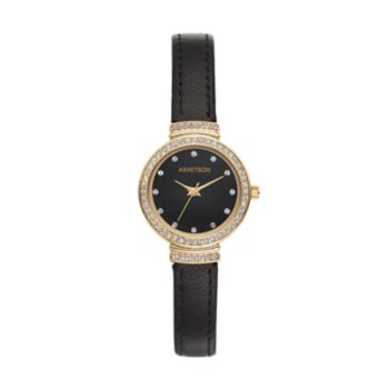 Armitron Women's Crystal Leather Watch - 75/5491BKGPBK