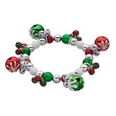 Beaded Jingle Bell Stretch Bracelet