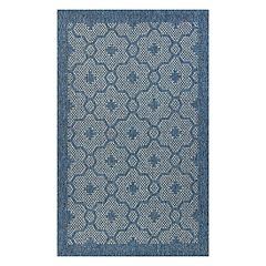 KAS Rugs Farmhouse Mosaic Framed Medallion Indoor Outdoor Rug