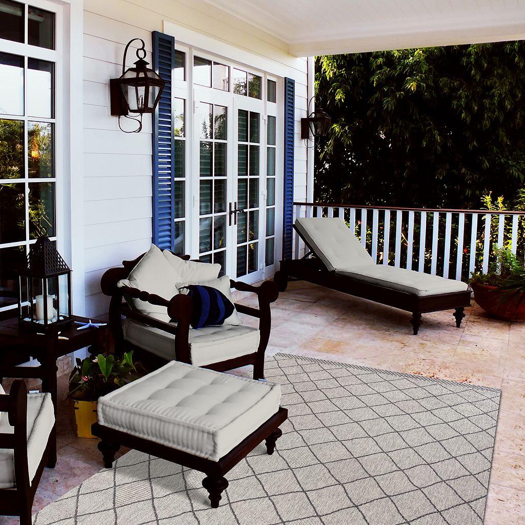 KAS Rugs Farmhouse Rustico Lattice Indoor Outdoor Rug