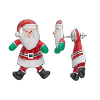 Santa Claus Nickel Free Front Back Earrings