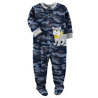 Toddler Boy Carter's Printed Fleece Footed Pajamas
