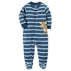 Toddler Boy Carter's Printed Fleece Footed Pajamas