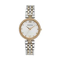 Armitron Women's Crystal Two Tone Watch - 75/5529SVTT