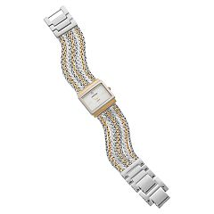 Armitron Women's Diamond Accent Two Tone Chain Watch - 75/5537MPTT