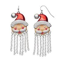 Santa Claus Nickel Free Fringe Earrings