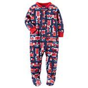 Baby Boy Carter's Winter Fleece Footed Pajamas