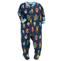 Baby Boy Carter's Winter Fleece Footed Pajamas