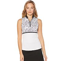 Women's Grand Slam Golf Performance Geo Print Top