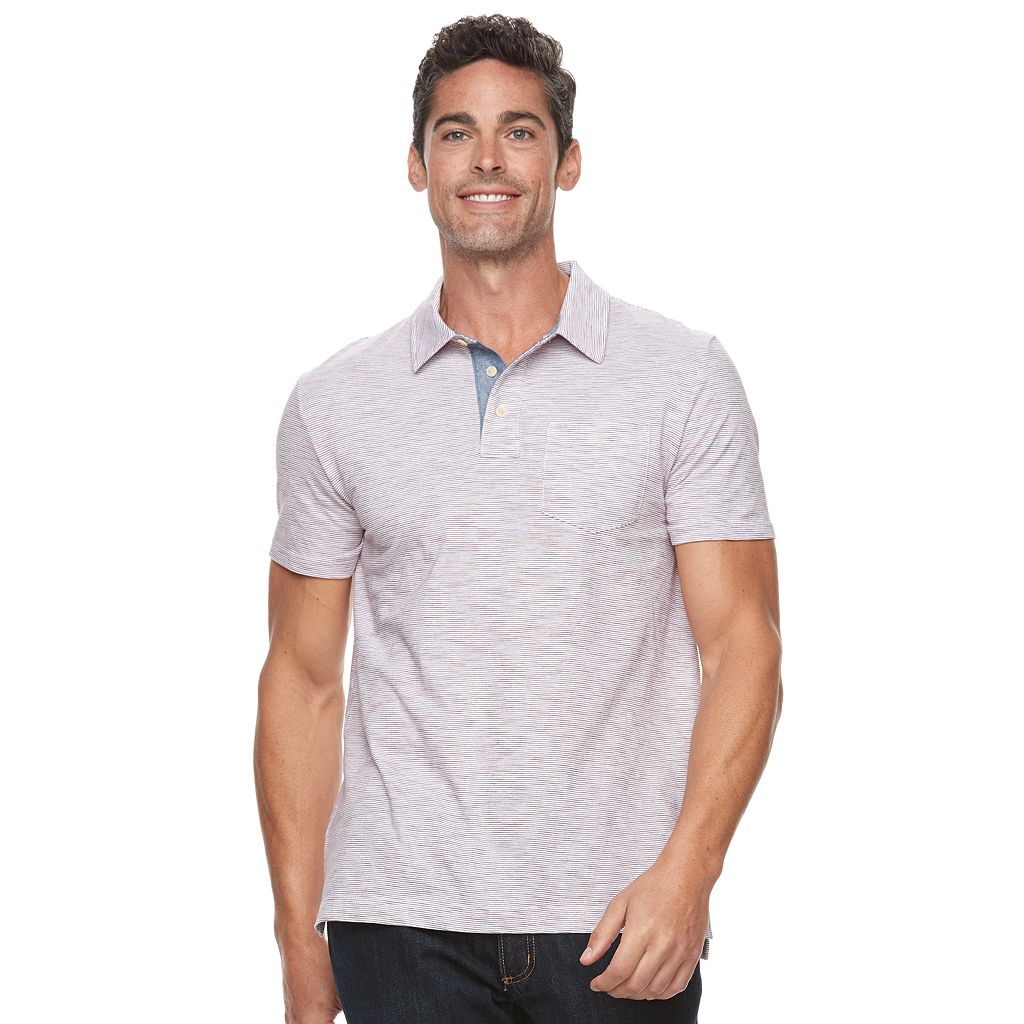 Men's SONOMA Goods for Life™ Classic-Fit Striped Pocket Polo