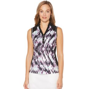 Women's Grand Slam Golf Performance Watercolor Sleeveless Polo