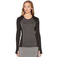 Women's Grand Slam Golf Performance Striped Long Sleeve Top