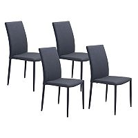 Zuo Modern Confidence Dining Chair 4 pc Set