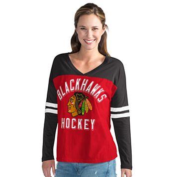 Women's Chicago Blackhawks Goal Line Tee