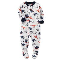 Toddler Boy Carter's Print Fleece Footed Pajamas