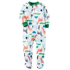 Toddler Boy Carter's Print Fleece Footed Pajamas