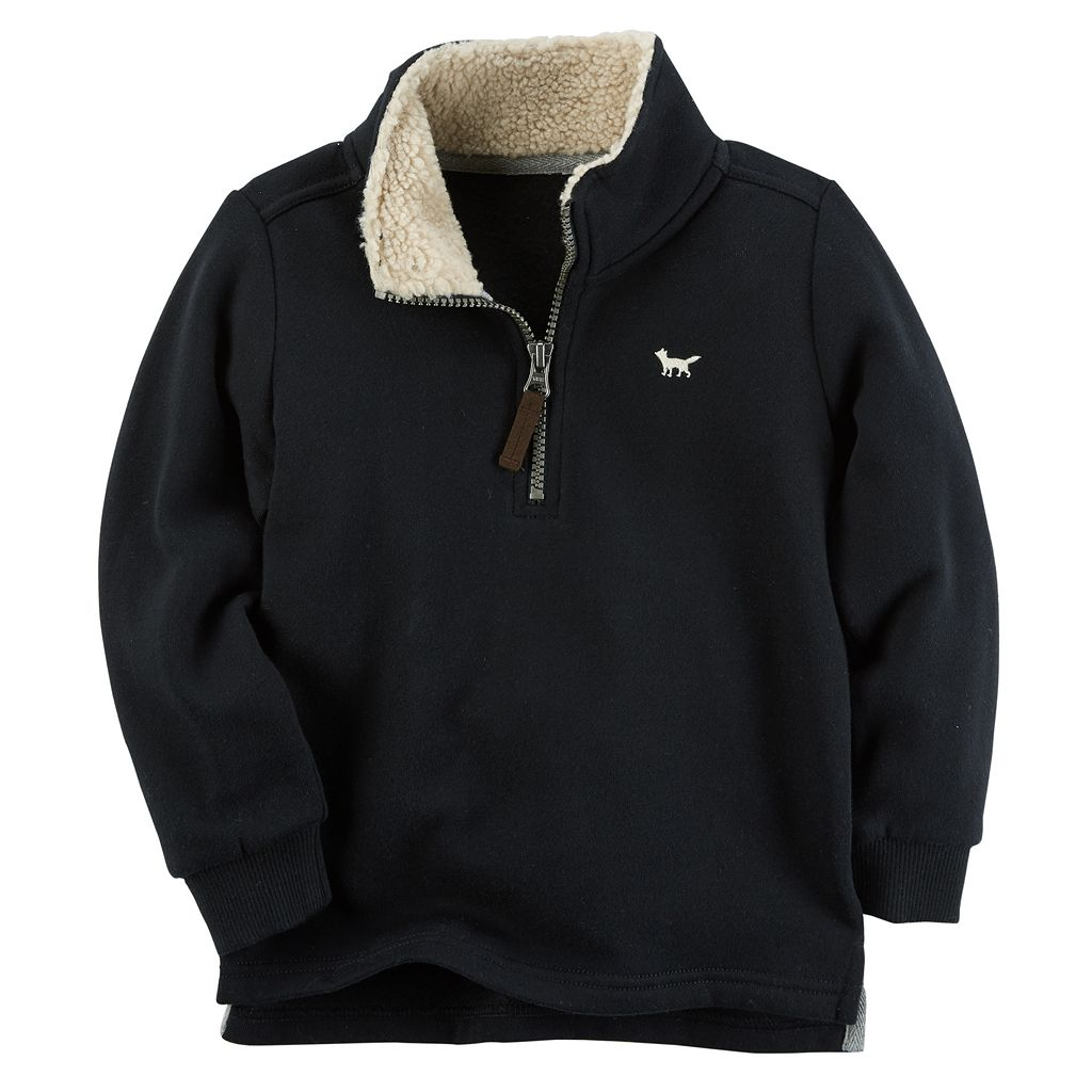 Boys 4-8 Carter's Sherpa Half Zip Fleece Pullover