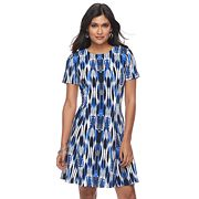 Petite Suite 7 Ikat Fit & Flare Dress