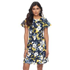 Petite Suite 7 Floral Fit & Flare Dress