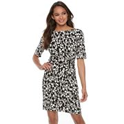 Petite Suite 7 Circle Print Sheath Dress