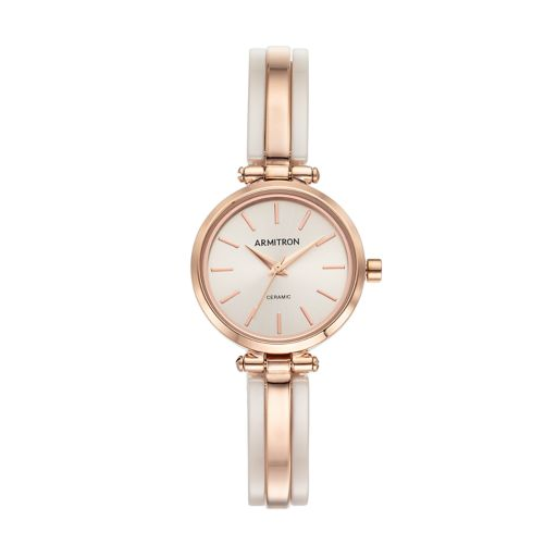 Armitron Women's Ceramic Half-Bangle Watch