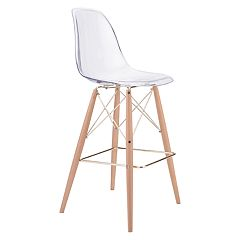 Zuo Modern Shadow Clear Bar Stool
