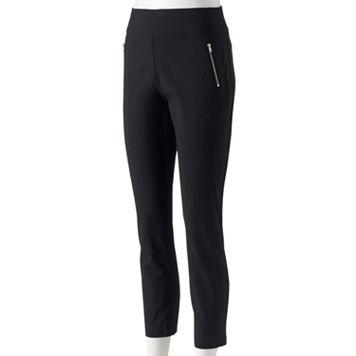 Women's Studio 253 Zipper Detail Straight-Leg Pants
