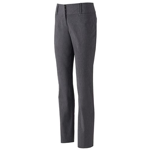 Women's Studio 253 Wide Waistband Bootcut Dress Pants