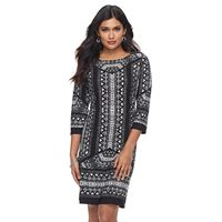 Petite Suite 7 Geometric Shift Dress