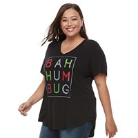 Plus Size Apt. 9® V-Neck Holiday Graphic Tee