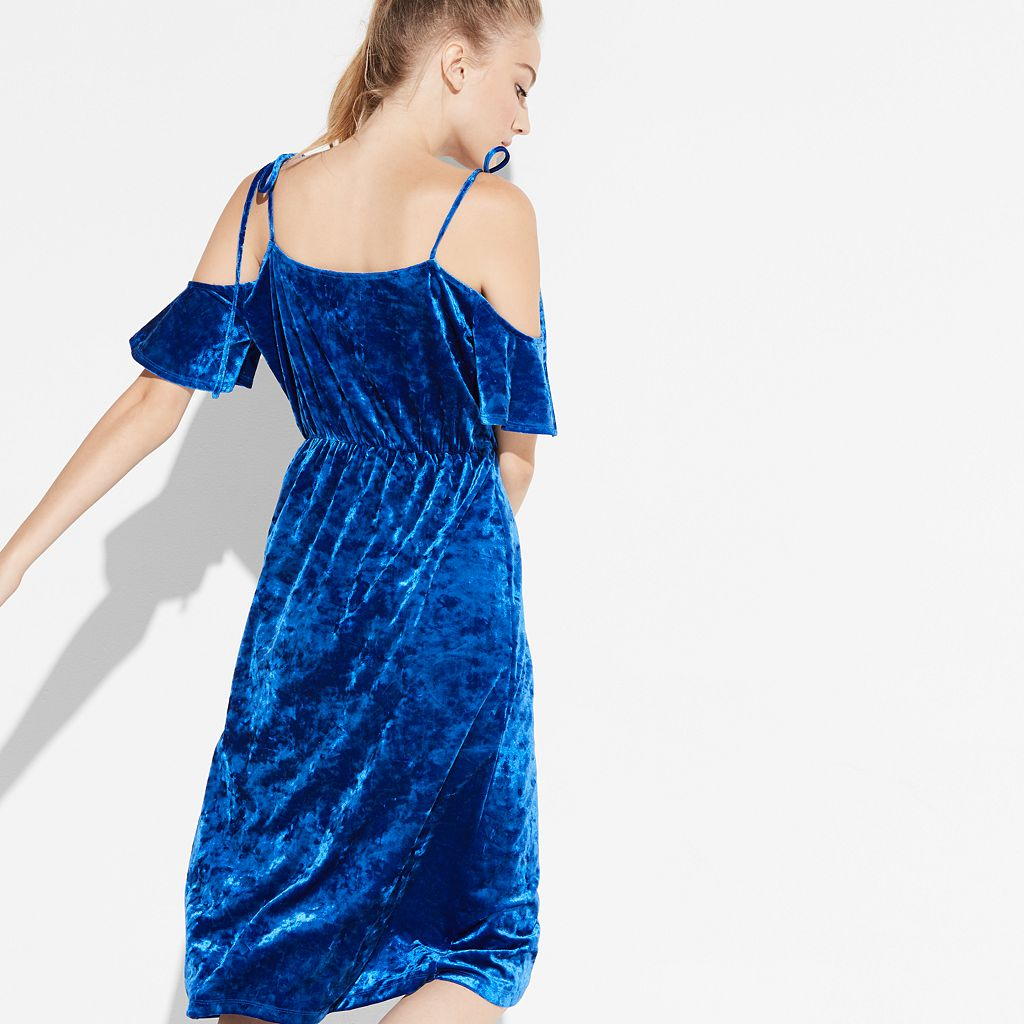 k/lab Velvet Faux-Wrap Dress