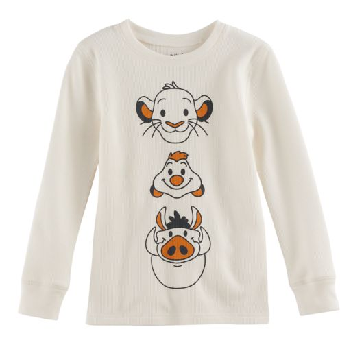 Disney's The Lion King Boys 4-10 Simba, Pumba & Simon Thermal Top by Jumping Beans®