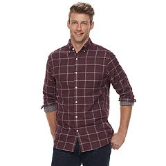Men's SONOMA Goods for Life™ Modern-Fit Double-Cloth Woven Button-Down Shirt