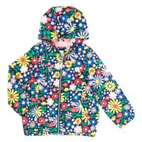 Girls 4-6x Carter's Midweight Bold Flower Windbreaker Jacket