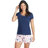 Women's Jockey Pajamas: 2-Piece Tee & Shorts PJ Set