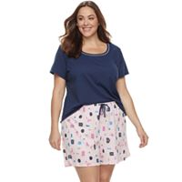 Plus Size Jockey 2-pc. Pajama Short Set