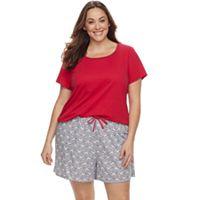 Plus Size Jockey 2-pc. Pajama Short Set
