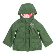 Girls 4-8 Carter's Midweight Fleece-Lined Anorak Jacket