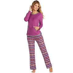 Women's Cuddl Duds Crewneck Fleece Pajama Set
