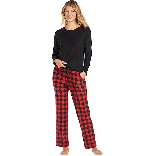 Women's Cuddl Duds Crewneck Fleece Pajama Set