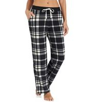 Women's Cuddl Duds Pajamas: Drawstring Microfleece Pants