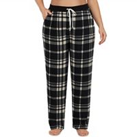 Plus Size Cuddl Duds Pajamas: Drawstring Microfleece Pants
