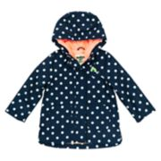 Girls 4-8 OshKosh B'gosh® Midweight Polka-Dot Fleece-Lined Rain Jacket