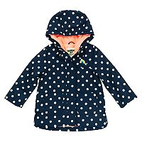 Girls 4-8 OshKosh B'gosh® Midweight Polka-Dot Fleece-Lined Rain Jacket