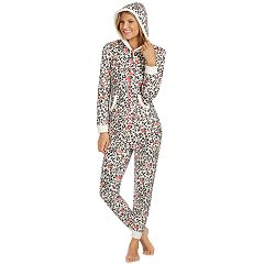 Women's Cuddl Duds Fleece Lined One-Piece Pajamas