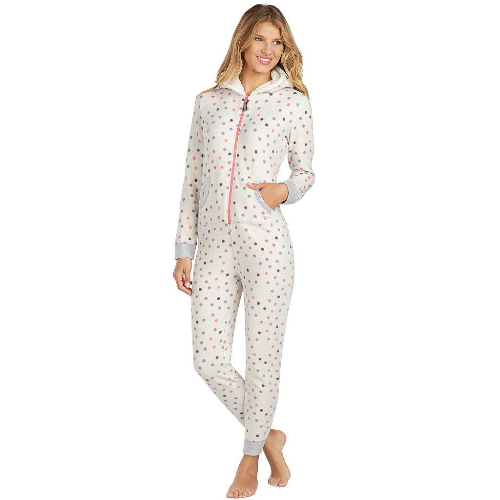 Women's Cuddl Duds Fleece Lined One-Piece Pajamas