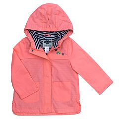 Girls 4-8 OshKosh B'gosh® Midweight Rainbow Embroidered Rain Jacket