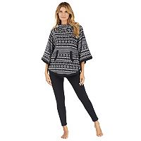 Women's Cuddl Duds Pajamas: By The Fire Poncho & Leggings 2-Piece Set