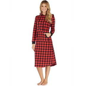 Women's Cuddl Duds Pajamas: By The Fire Hooded Sleep Shirt