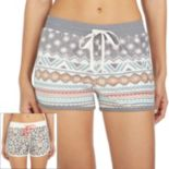Women's Cuddl Duds Pajamas: 2-pack Print Boxer Shorts Set
